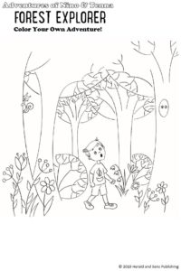 coloring page from Forest Explorer