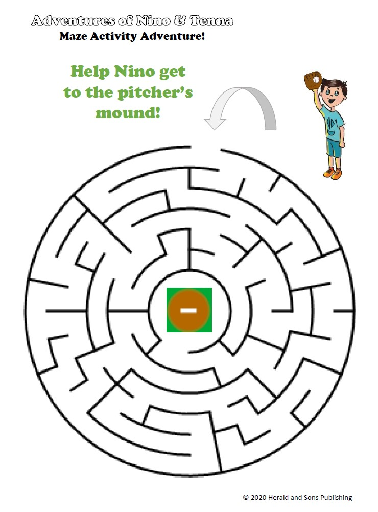 Nino Pitcher's Mound Maze Activity