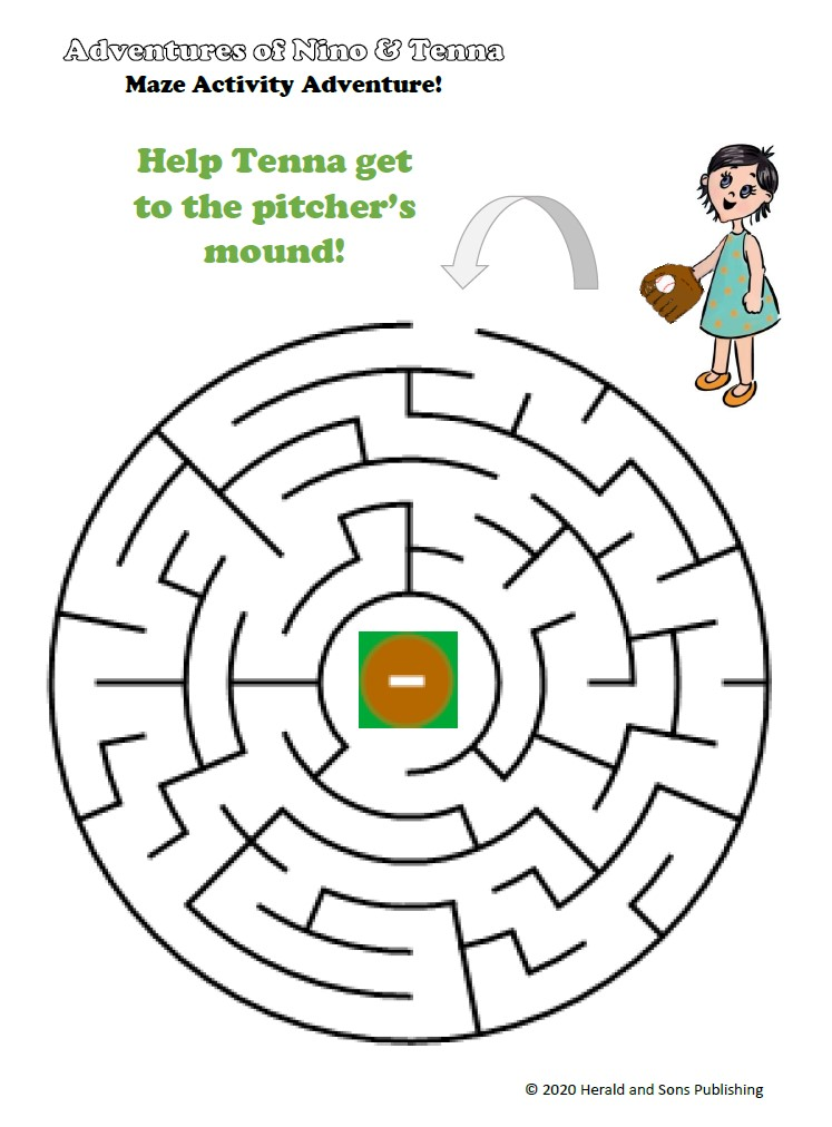 Tenna Pitcher's Mound Maze Activity