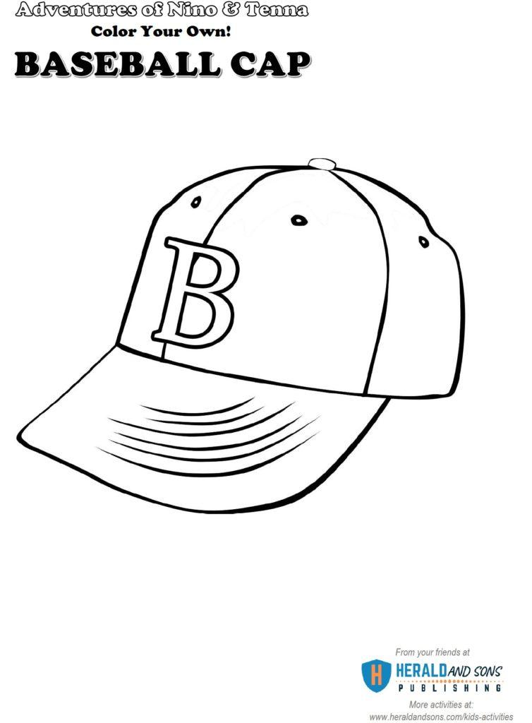 Baseball Cap Coloring B