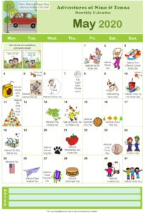 AdventuresOfNinoAndTennaCalendar_May2020